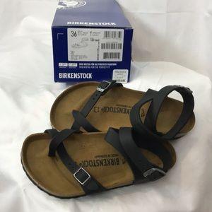 NWT Birkenstock sz36 (L5/M3) Black Yara sandals